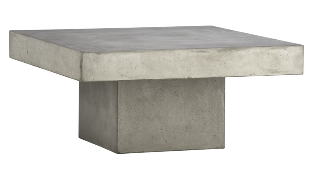 Element Cement Coffee Table | Cb2 For Element Ivory Rectangular Coffee Tables (Image 10 of 40)