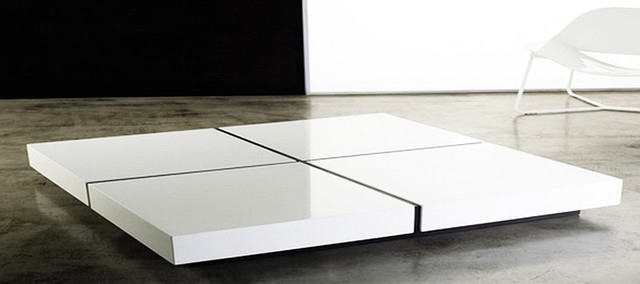Element Ivory Rectangular Coffee Table Cb2 For White Modern Ideas 18 With Regard To Element Ivory Rectangular Coffee Tables (Photo 30 of 40)
