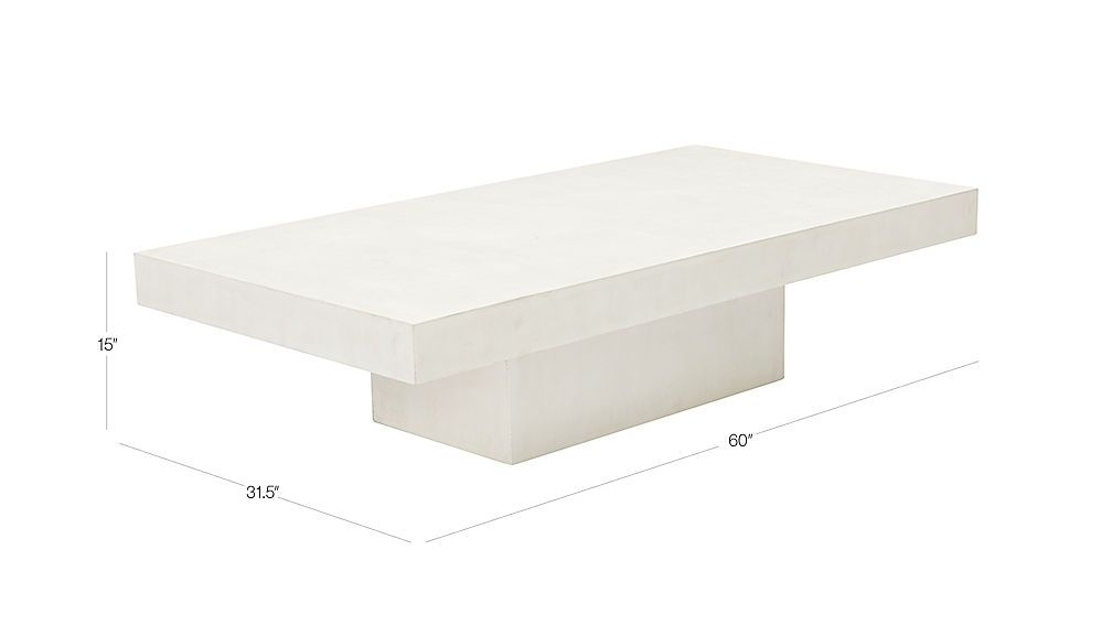 Element Ivory White Rectangular Coffee Table | Pinterest | Patios Inside Element Ivory Rectangular Coffee Tables (Photo 2 of 40)