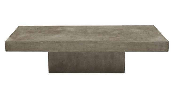 Element Rectangular Grey Concrete Coffee Table Regarding Element Ivory Rectangular Coffee Tables (View 3 of 40)