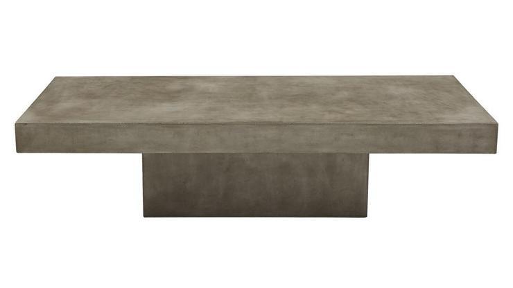 Element Rectangular Grey Concrete Coffee Table Regarding Element Ivory Rectangular Coffee Tables (Photo 3 of 40)
