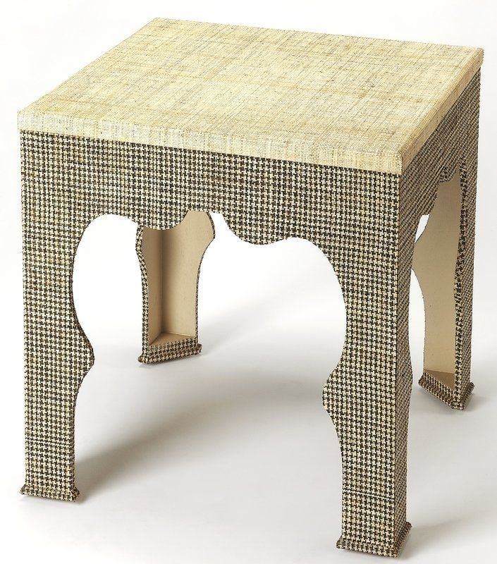 Elinore Houndstooth Raffia End Table | Houndstooth And Bungalow Pertaining To Exton Cocktail Tables (Photo 33 of 40)