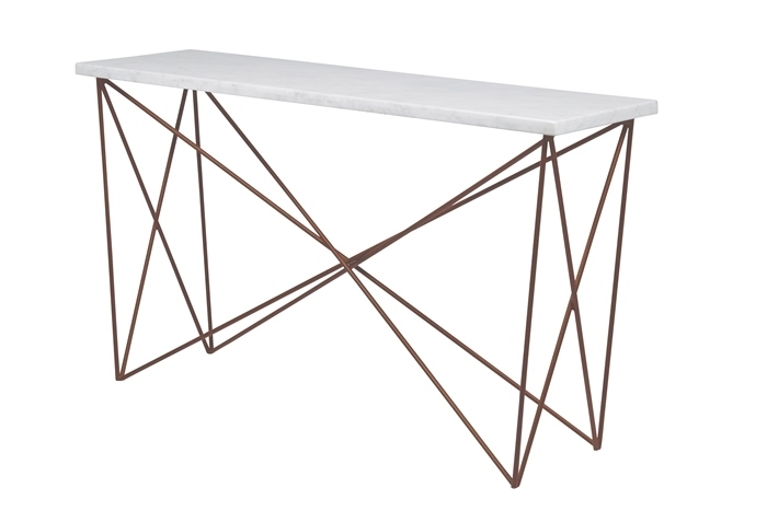 Elle Criss Cross Console Table – Make Your House A Home, Bendigo Regarding Rectangular Coffee Tables With Brass Legs (Photo 22 of 40)