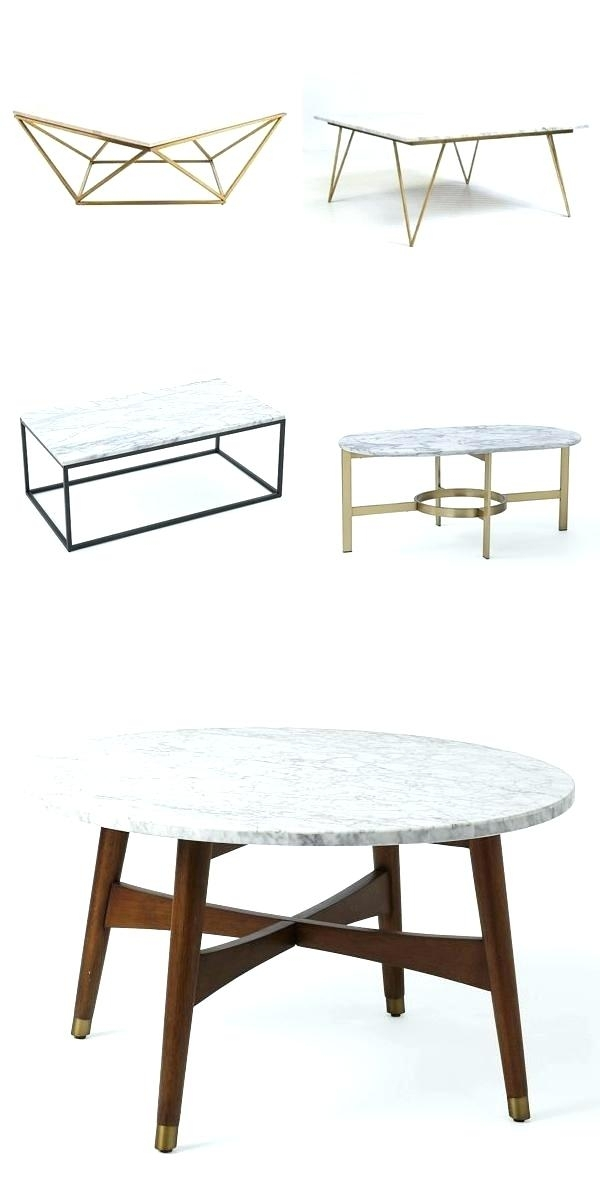 End Table With Marble Top Slab Large Marble Coffee Table With Brass Throughout Slab Large Marble Coffee Tables With Brass Base (View 35 of 40)