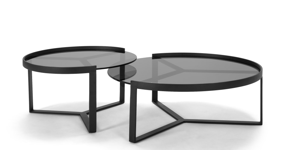 Endearing Nested Coffee Table On Aula Nesting Black And Grey Made Regarding Set Of Nesting Coffee Tables (View 25 of 40)