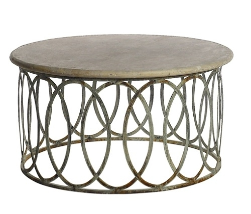 Endearing Round Stone Top Coffee Table With Charming Round Stone Top With Stone Top Coffee Tables (Image 11 of 40)