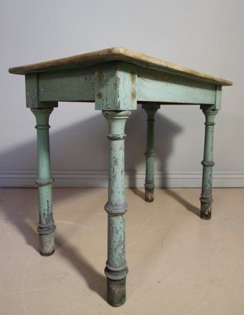 English Antique Painted Pine Side Table | Antiques: Blues Regarding Antique Pine Coffee Tables (Image 27 of 40)