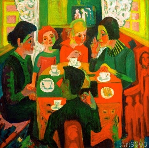 Ernst Ludwig Kirchner – Coffee Table (70,0 X 70,0 Cm) | Extremely Intended For Expressionist Coffee Tables (Image 19 of 40)