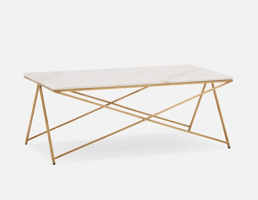 Etta Marble Coffee Table | Structube With Regard To Iron Marble Coffee Tables (Image 10 of 40)