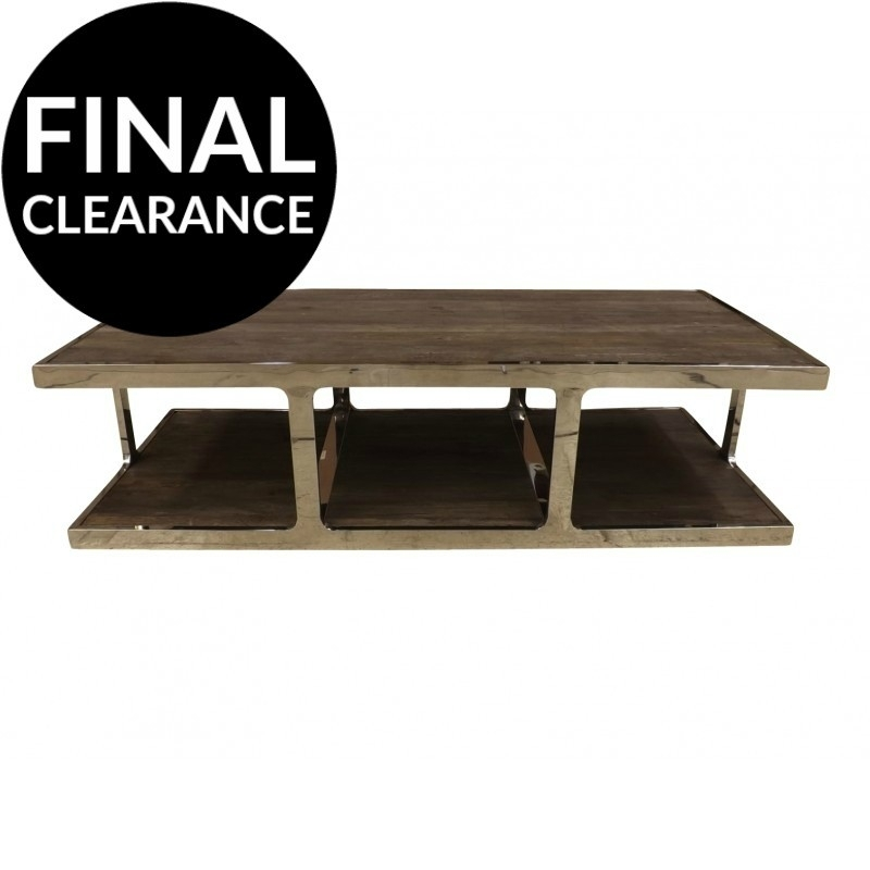 European Design Industrial Coffee Table In Reclaimed Elm And With Reclaimed Elm Iron Coffee Tables (View 20 of 40)