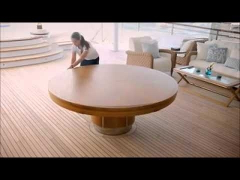 Expandable Round Dining Table – Youtube With Regard To Spin Rotating Coffee Tables (Image 9 of 40)