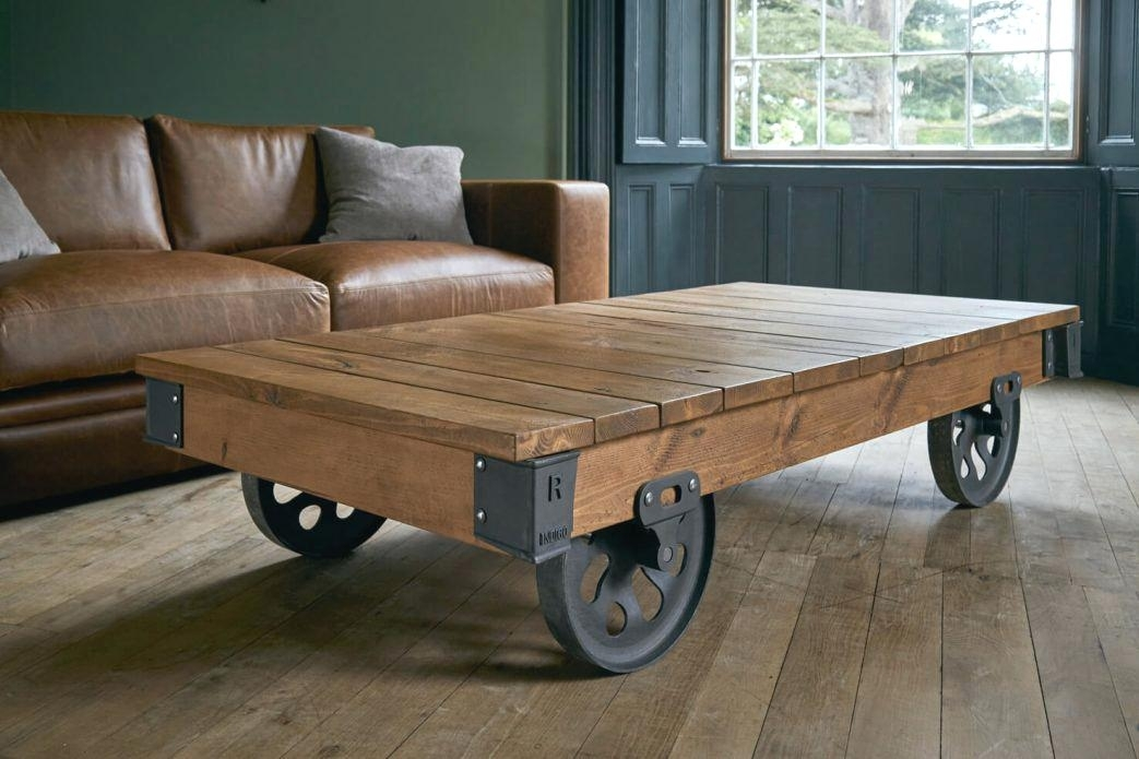 Extra Large Coffee Table Extra Large Coffee Table 4 Wheeled Mill With Mill Large Coffee Tables (Photo 11 of 40)