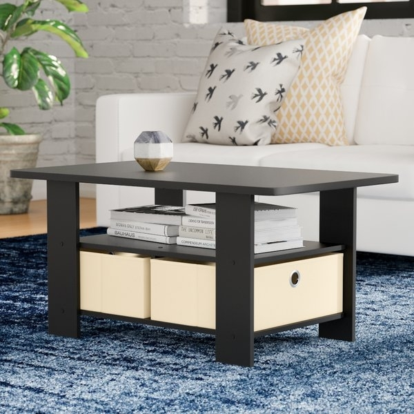 Extra Small Coffee Tables | Wayfair Throughout White Wash 2 Drawer/1 Door Coffee Tables (Image 25 of 40)