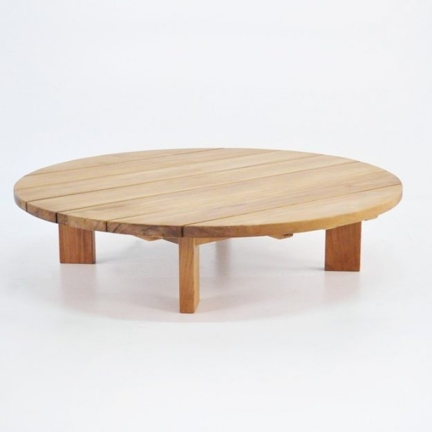 Extraordinary Round Low Teak Coffee Tables Patio Furniture Teak In Round Teak Coffee Tables (Image 9 of 40)