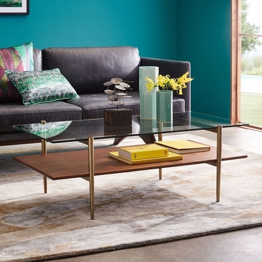 Eye Catching Furniture Coffee Tables At Mid Century Art Display Intended For Smart Round Marble Brass Coffee Tables (Image 12 of 40)