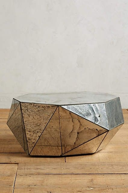 Faceted Mirror Coffee Table | Geometric | Pinterest | Mirrored With Geo Faceted Coffee Tables (Image 6 of 31)