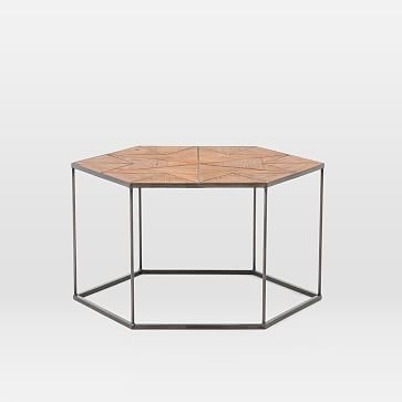 Faceted Wood Hexagon Coffee Table | Pinterest | Coffee, Woods And With Regard To Geo Faceted Coffee Tables (Photo 4 of 31)