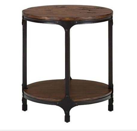 Factory Mill Round Side Table With Mill Coffee Tables (Image 19 of 40)