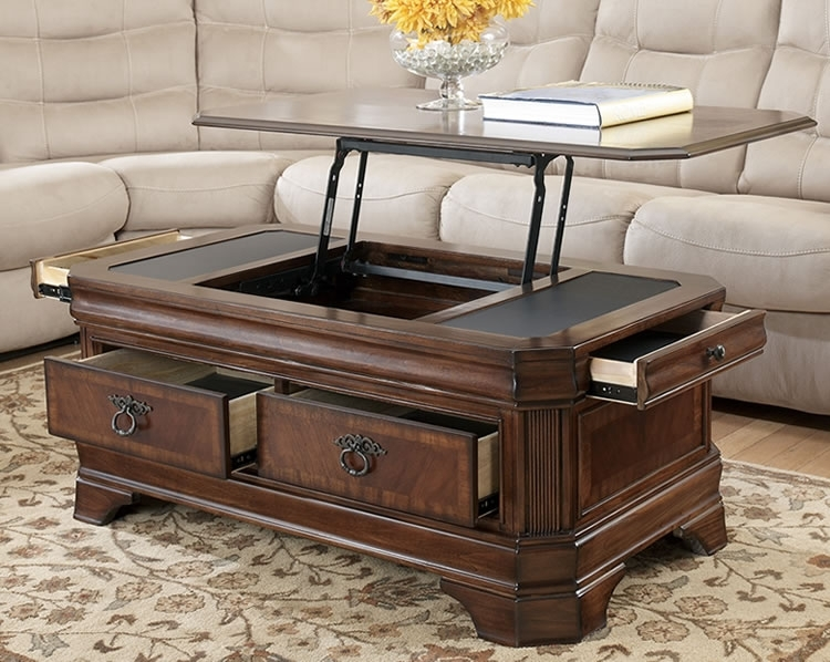 Fancy Lift Top Coffee Tables And Lift Top Coffee Tables With Storage With Seneca Lift Top Cocktail Tables (View 8 of 40)