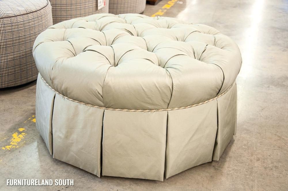Fancy Tufted Ottoman Table – Videoteh Throughout Round Button Tufted Coffee Tables (Image 11 of 40)