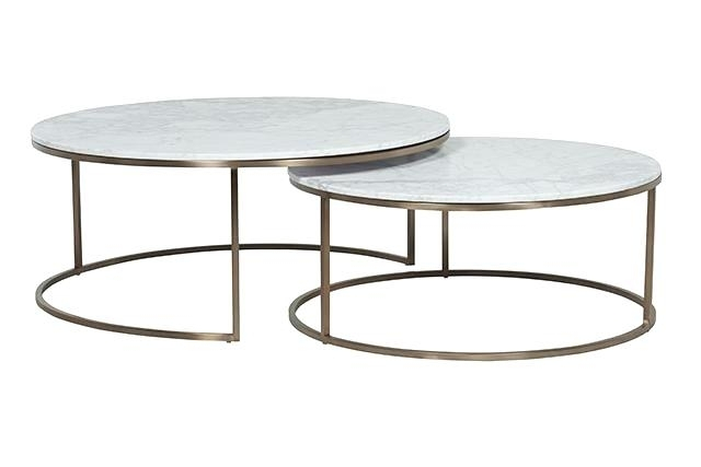 Faux Marble Top Coffee Table Intended For Smart Round Marble Brass Coffee Tables (Photo 5 of 40)