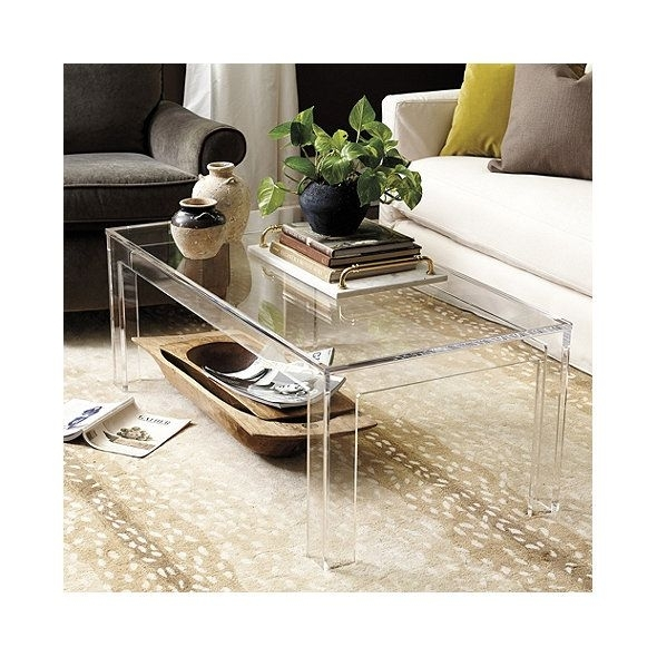 Felicity Acrylic Coffee Table | Practical Magic House, Living Rooms Regarding Felicity Cocktail Tables (Image 9 of 40)