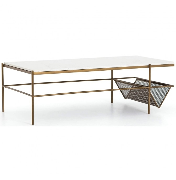 Felicity Coffee Table, Matte Brass – Cool And Collected – Living With Felicity Cocktail Tables (Image 18 of 40)