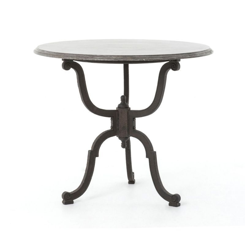 Fh Cimp 4Y Rbn | Four Hands Iron Bistro Pedestal Table With For Bluestone Rustic Black Coffee Tables (View 17 of 40)