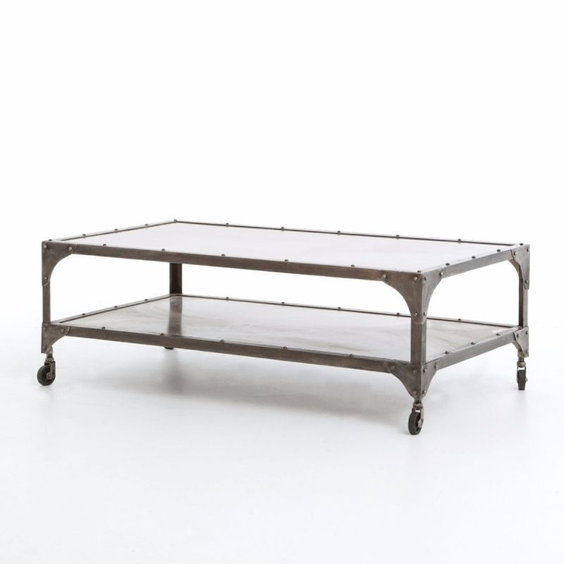 Fh Iele 49 Nklant | Four Hands Element Coffee Table In Antique Nickel Intended For Element Coffee Tables (Image 36 of 40)