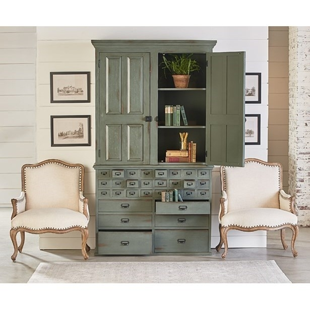 File Cabinet Armoire With Patina Finishmagnolia Homejoanna With Magnolia Home Louver Cocktail Tables (Image 6 of 39)
