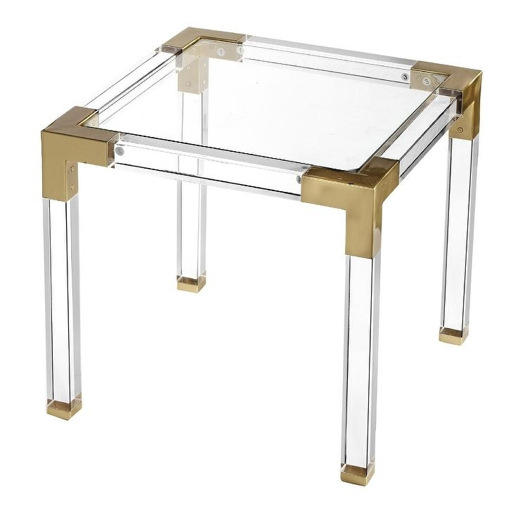Fleisher Square Acrylic Coffee Table With Regard To Acrylic Glass And Brass Coffee Tables (View 10 of 40)