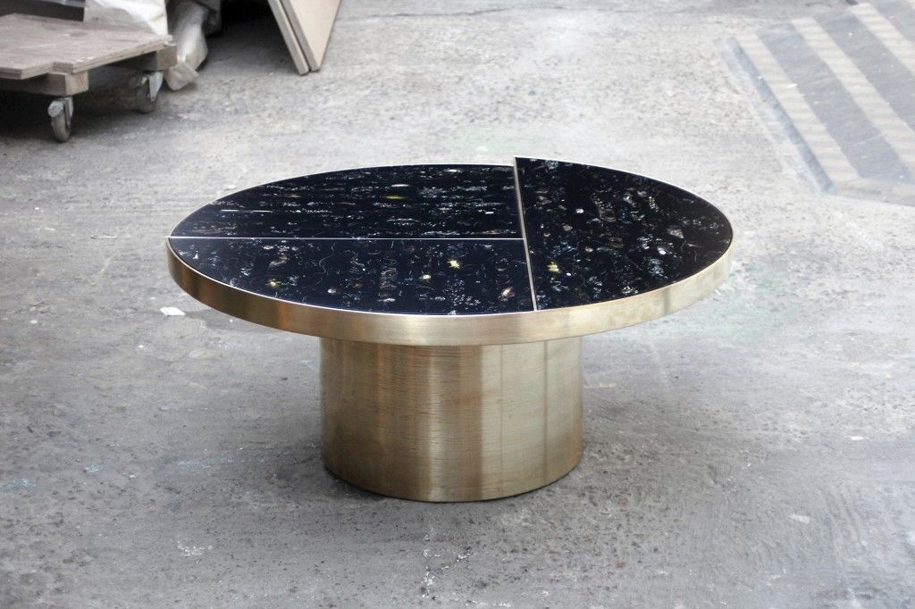 Flora Tablemarcin Rusak, Suspends Flowers In Black Resin To For Suspend Ii Marble And Wood Coffee Tables (Image 11 of 40)