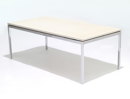 Florence Knoll Coffee And End Tables | Knoll In Rectangular Brass Finish And Glass Coffee Tables (Image 13 of 40)