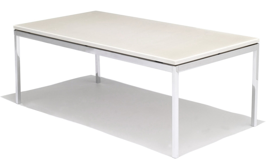 Florence Knoll Rectangular Coffee Table – Hivemodern Inside Suspend Ii Marble And Wood Coffee Tables (Photo 18 of 40)