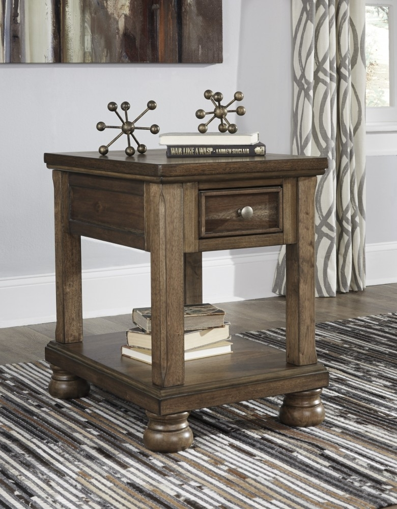 Flynnter – Medium Brown – Chair Side End Table | T716 3 | Chair Side For Baybrin Cocktail Tables (Photo 37 of 40)