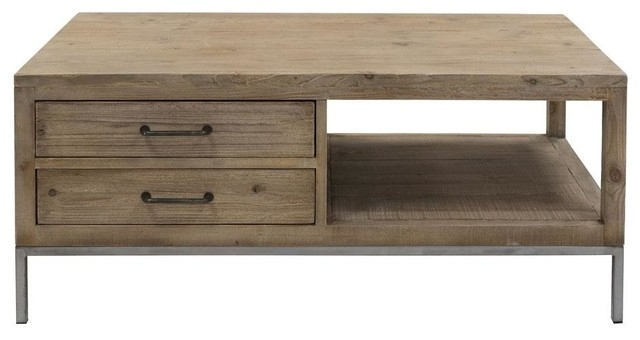 Forte Reclaimed Pine Coffee Table – Industrial – Coffee Tables – Within Reclaimed Pine Coffee Tables (View 30 of 40)
