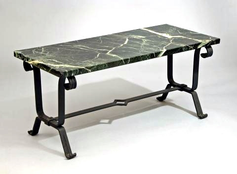 French Wrought Iron Art Deco Coffee Table, C (Image 14 of 40)