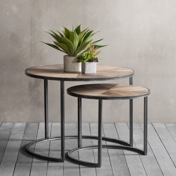Fulton Set Of 2 Nesting Coffee Tables | Modern Side Tables Intended For Set Of Nesting Coffee Tables (View 37 of 40)