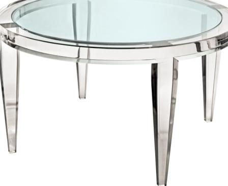 Furniture, Famous Lucite Coffee Table Lucite Glass Round Coffee With Stately Acrylic Coffee Tables (View 8 of 40)