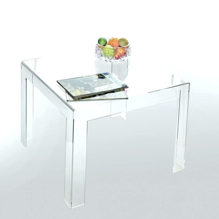 Furniture Low Square Acrylic Coffee Table With Clear Lucite Tulip Pertaining To Acrylic Glass And Brass Coffee Tables (Photo 39 of 40)