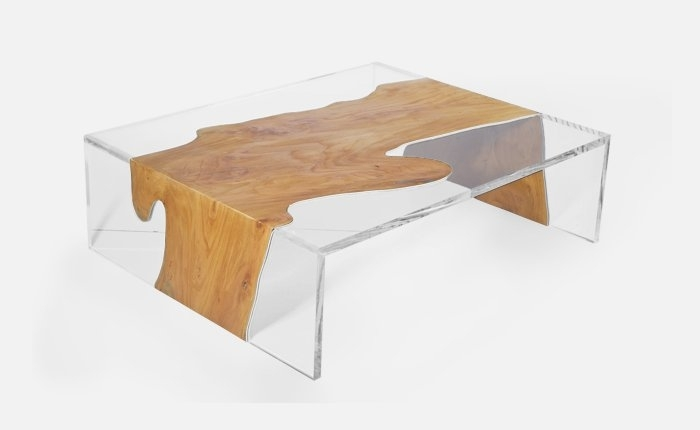 Furniture : Modern Acrylic Coffee Table Designs Inspiration In Modern Acrylic Coffee Tables (Image 15 of 40)