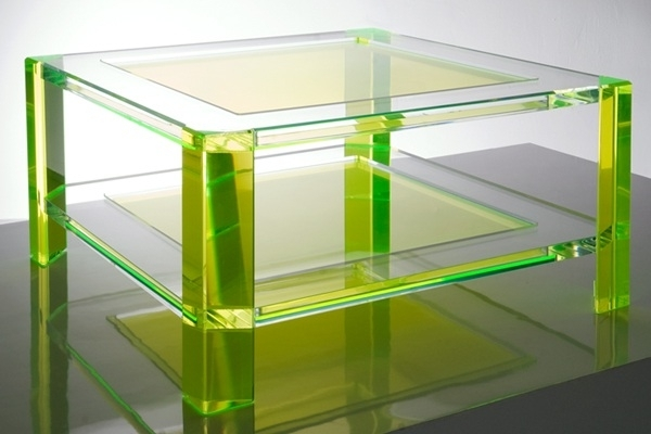 Furnitures : Green Modern Acrylic Coffee Table Make Everything Clear Within Modern Acrylic Coffee Tables (Photo 10 of 40)