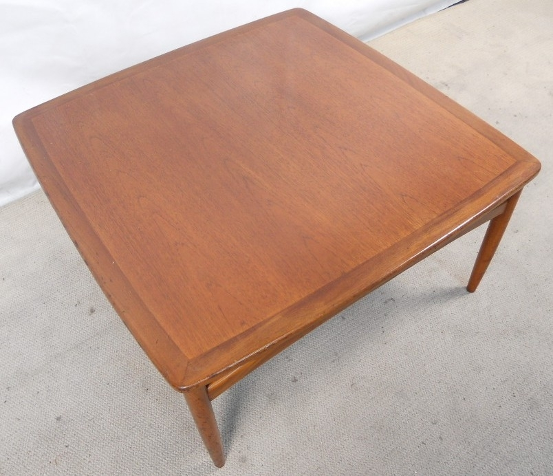 G Plan Teak Wood Large Square Coffee Table – Sold Throughout Large Teak Coffee Tables (View 18 of 40)