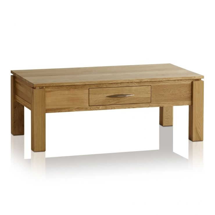 Galway Large Coffee Table In Solid Oak | Oak Furniture Land Regarding Natural 2 Drawer Shutter Coffee Tables (Photo 3 of 40)