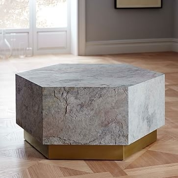 Geo Hex Coffee Table #westelm | Dental Office | Pinterest | Geo Within Geo Faceted Coffee Tables (Image 9 of 31)