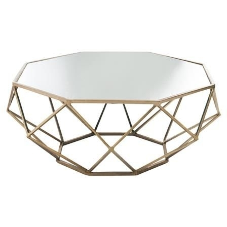 Geo Metal & Mirrored Coffee Table | Living Room | Pinterest Throughout Geo Faceted Coffee Tables (Image 10 of 31)