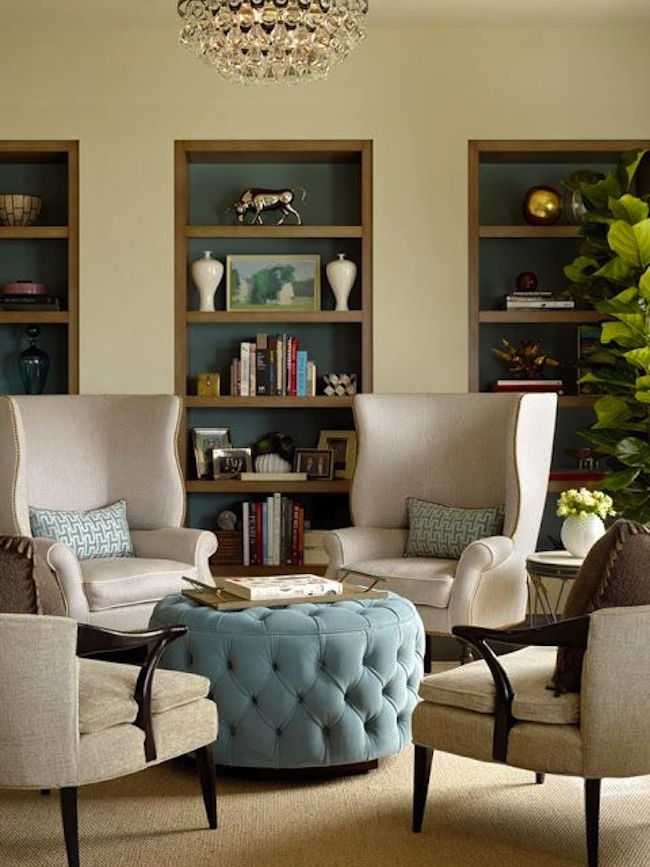 Get The Look: Ottoman As Coffee Table | Artisan Crafted Iron Throughout Button Tufted Coffee Tables (View 38 of 40)