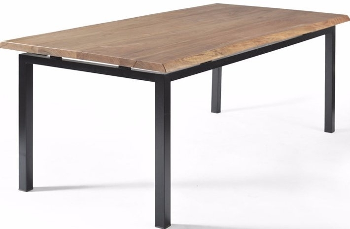 Gingko Home Furnishings George Walnut Dining Table With Live Edge With Regard To Chiseled Edge Coffee Tables (View 29 of 40)