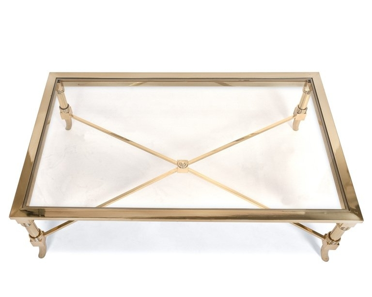 Glass Brass Coffee Tables Throughout Darbuka Brass Coffee Tables (Image 31 of 40)