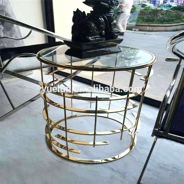 Glass Cube Coffee Table Inside Brass Iron Cube Tables (Image 14 of 40)